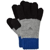 Armani Junior Blue and Grey Logo Gloves