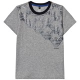 Armani Junior Grey Eagle Logo T-Shirt