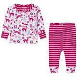 Hatley Cream Fox Print and Applique Pyjamas