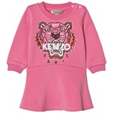 Kenzo Kids Pink Tiger Embroidered Sweat Dress
