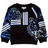 Kenzo Kids Black All Over Icons Print Sweatshirt
