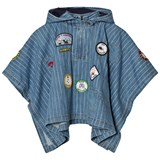Stella McCartney Kids Blue Denim Badge Tambourine Cape