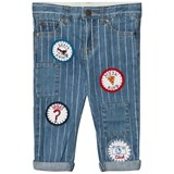 Stella McCartney Kids Blue Patch Detail Lohan Jeans