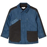 Stella McCartney Kids Blue Patch Denim Chase Jacket