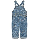 Stella McCartney Kids Blue Scribble and Skate Rudy Dungarees