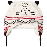 Catimini Cream Tiger Hat with Teddy Lining
