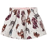 Catimini Grey Dog Print Sweat Skirt