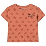 The Animals Observatory Rooster Kids T-shirt Deep Orange Stars