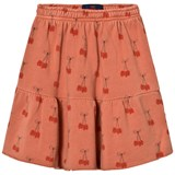 The Animals Observatory Cat Kids Skirt Deep Orange Cherries