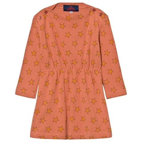 The Animals Observatory Orange Star Print Dress