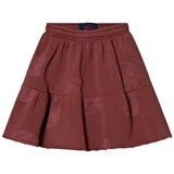 The Animals Observatory Cat Kids Skirt Red Garnet Stamps