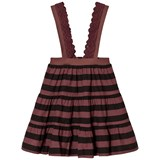 The Animals Observatory Giraffe Kids Skirt Red Garnet Stripes