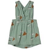 The Animals Observatory Turquoise Kites Goose Kids Dress