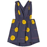 The Animals Observatory Deep Blue Yellow Face Goose Kids Dress