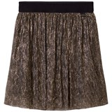 Little Marc Jacobs Gold Lurex Pleated Midi Skirt