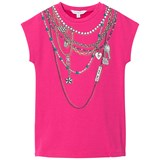 Little Marc Jacobs Pink Necklace Print Jersey Dress