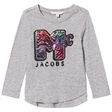 Little Marc Jacobs Grey Marl MTV Marc Sequin Tee Mini Me