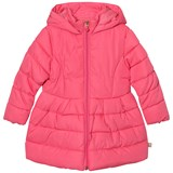 Billieblush Pink Puffer Jacket with Sequin Bow Detail