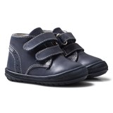 Primigi Navy Leather Velcro First Walker Shoes