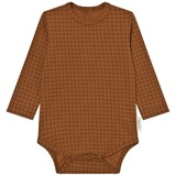 Tinycottons Brown Grid Print Long Sleeve Body