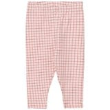 Tinycottons Pale Pink and Red Grid Leggings