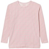 Tinycottons Pale Pink and Red Grid Print T-Shirt