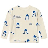 Tinycottons Beige and Blue No-Worry Dolls Long Sleeve T-Shirt