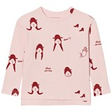 Tinycottons Pale Pink and Red No-Worry Dolls Long Sleeve T-Shirt