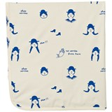 Tinycottons No-Worry Dolls Blanket Beige / Blue