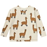 Tinycottons Beige Llamas Long Sleeve T-Shirt