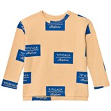 Tinycottons Nude and Blue Titicaca Badge Long Sleeve T-Shirt