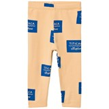 Tinycottons Nude and Blue Titicaca Badge Leggings