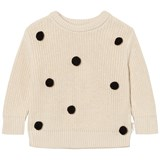 Tinycottons Beige Pom Poms Oversize Sweater