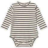 Tinycottons Beige and Black Stripes Long Sleeve Body