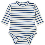 Tinycottons Beige and Blue Stripes Long Sleeve Body