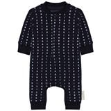 Tinycottons Dark Navy Alphabet Soup Fleece Onesie