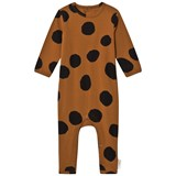Tinycottons Brown and Black Pom Poms Onesie