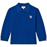 Paul Smith Junior Royal Blue Long Sleeve Pique Polo