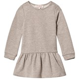 Lili Gaufrette Taupe Glitter Sweater Dress with Bow Back Detail