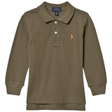 Ralph Lauren Olive Long-Sleeved Polo Top