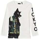 IKKS Off-White Glow in the Dark Tokyo Wolf T-Shirt