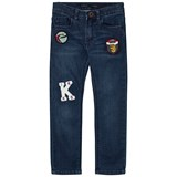 IKKS Blue Slim Fit Badge Jeans