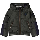 IKKS Khaki Hooded Puffer Coat