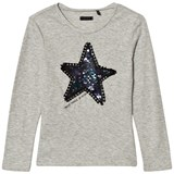 IKKS Grey Marl Sequin Star Long Sleeve T-Shirt