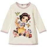 Monnalisa White Snow White Print Diamante Sweater Dress