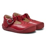 Start-rite Red and Silver Leather Evy First Steps Shoes