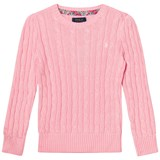 Ralph Lauren Pink Wool Cable Long Sleeve Jumper with Small PP