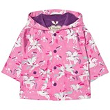 Hatley Pink Unicorn Print Fleece Lined Raincoat