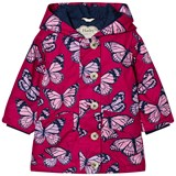 Hatley Pink Butterfly Print Cotton Coated Raincoat
