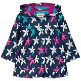 Hatley Navy Graphic Flower Print Fleece Lined Raincoat